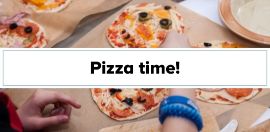 Blog title pizza time